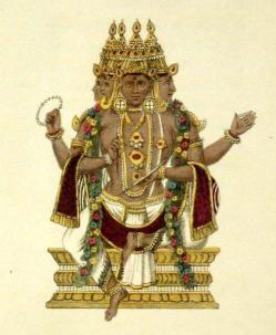 8 Dkpala Götter der Richtungen, der neunte ist Brahma und steht im Zenith