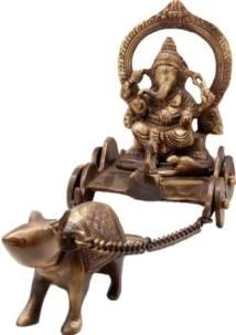 Ganesha mit seinem Reittier, der Maus