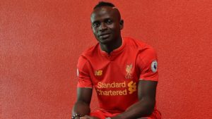 Sadio Mane signed by Liverpool.