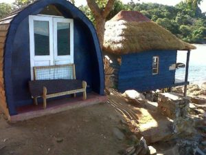 One of the many cabins at the site.
