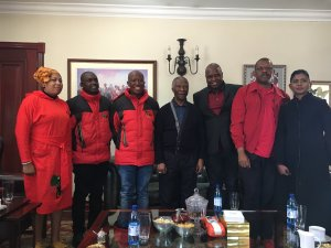 EFF gurus with Thabo Mbeki at his home.