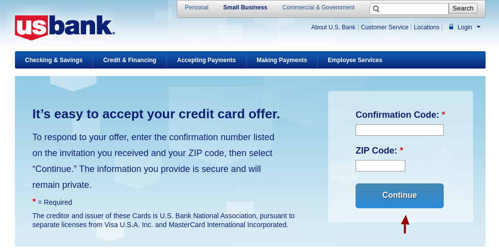 Your credit impacts a number of aspects in your life. Www Usbank Com Mybizoffer Check Your Us Bank Credit Card Offer Newsweepstakes
