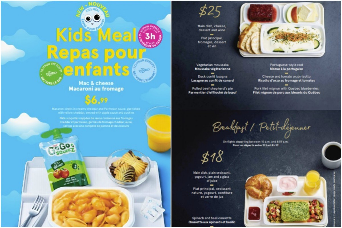 pax air transat brings new meals