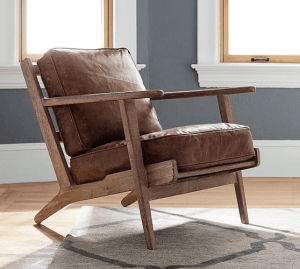 Raylan Leather accent chair