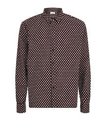 geometric print men shirt