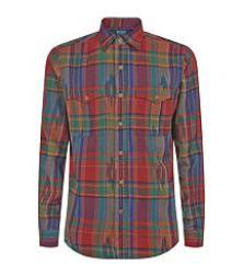 plaid men polo ralph lauren shirt