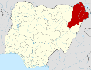 Borno State Map, Credit: Wikipedia