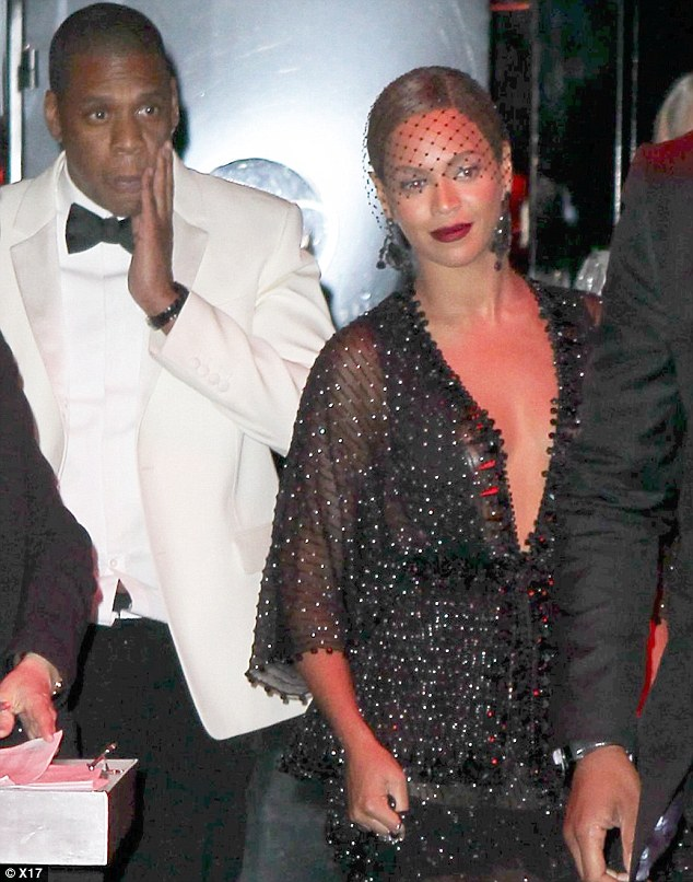 Jay Z looked shellshocked as the trio left the elevator after the fight at the Standard Hotel in New York last Monday