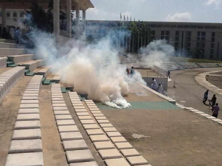 Teargas scene