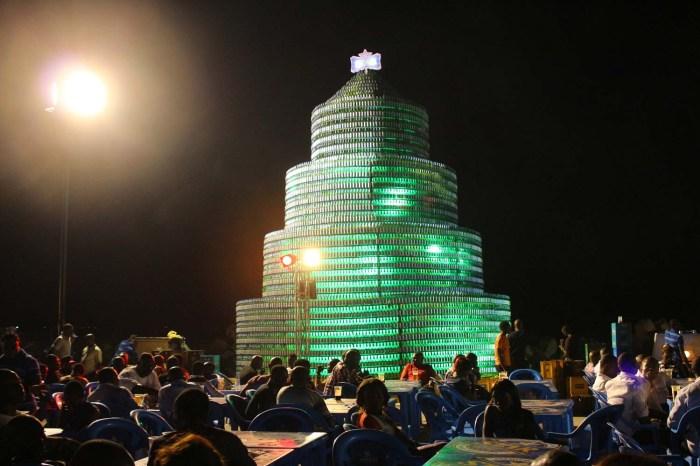 2. Star Bottle Tree (Night Photo)