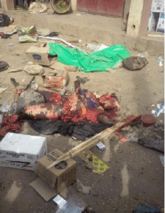 Graphic pix of suicide bomber