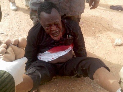 Shiites leader soaked in blood
