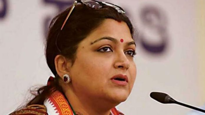 actress khushboo slaps youth during congress rally in bangalore