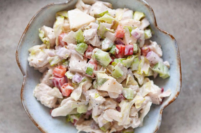 Chicken Salad with celery and bell pepper