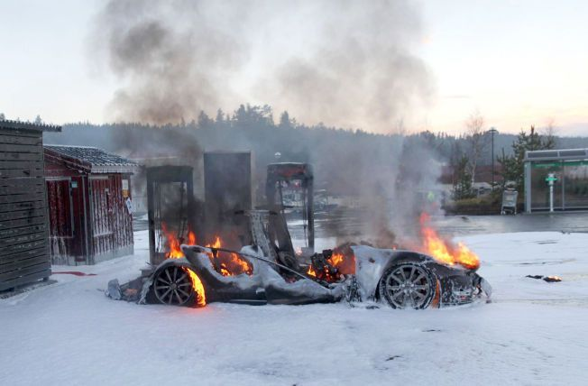 Tesla catches fire – again…. yawn!