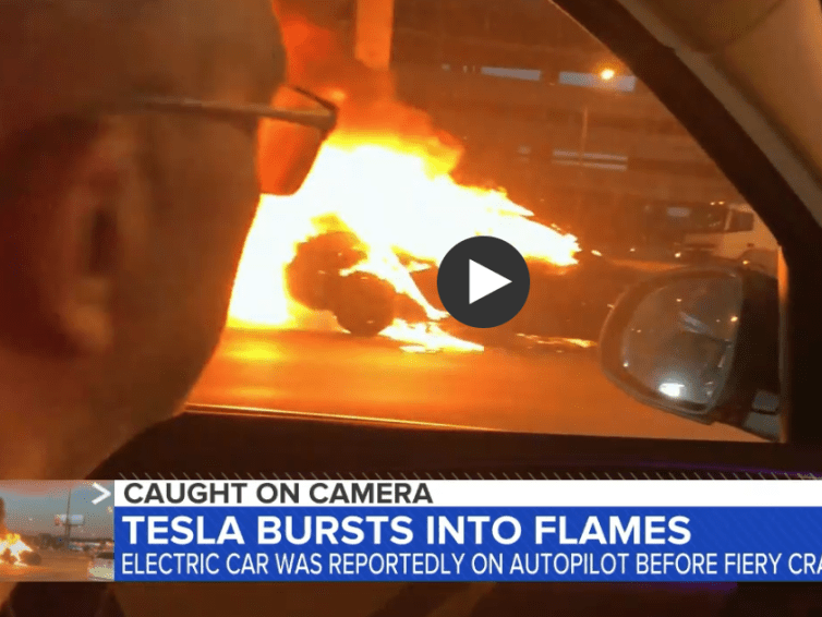 Tesla bursts into flames yet again & again