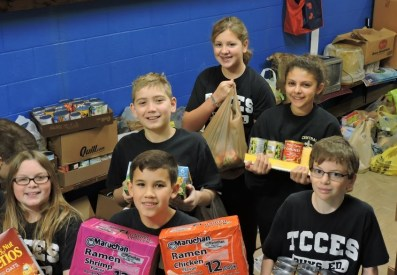 TCCES food and toy drive