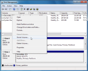 How to create a new partition from single volume in windows