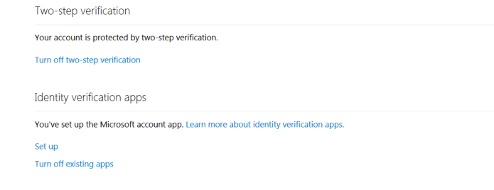 Microsoft Two Step Verification