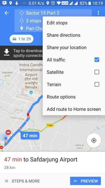 Google map share direction