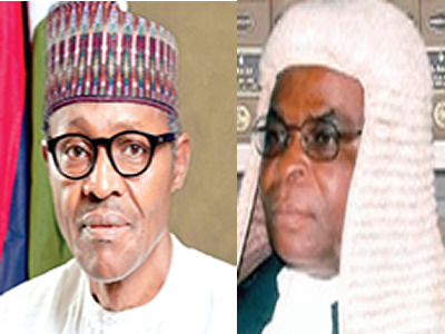 Image result for Buhari tasks judiciary on speedy trial of corruption, financial crimes cases