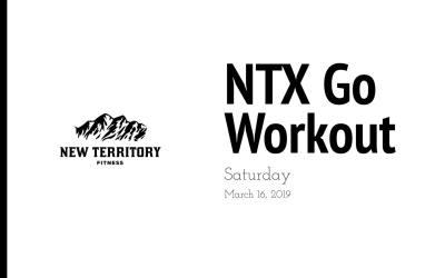 NTX Go // Saturday 03-16