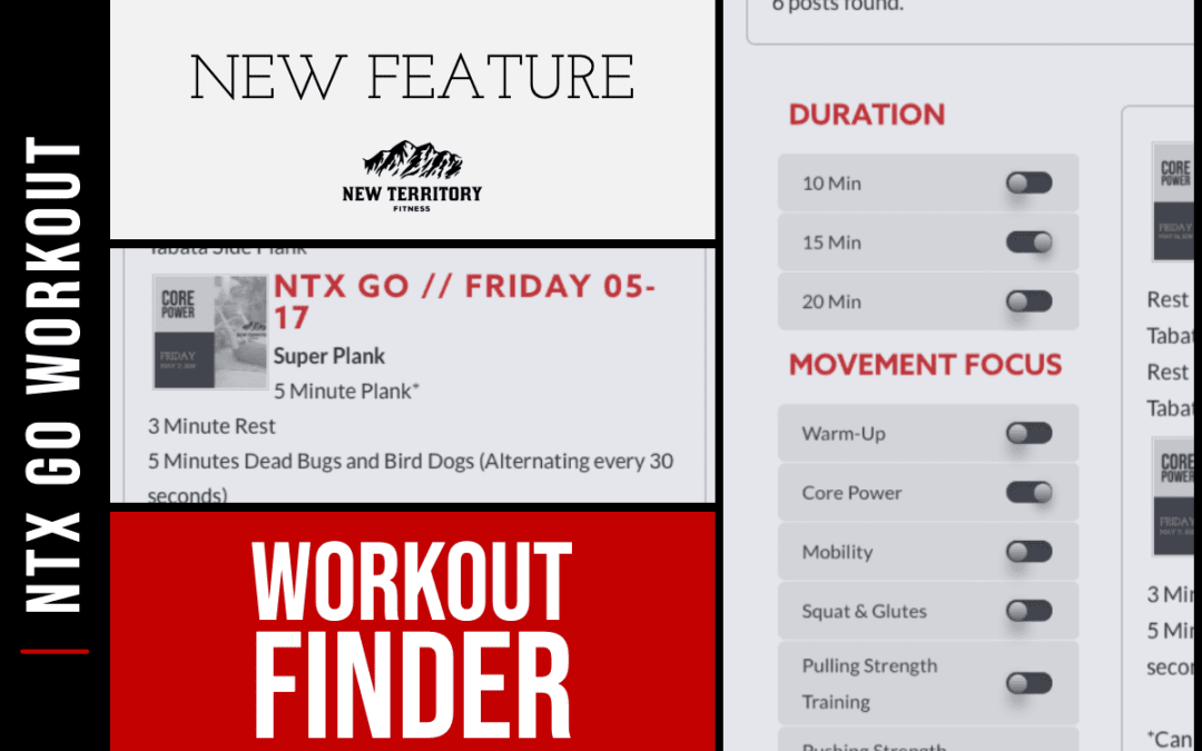 Introducing the Workout Finder on NTX Go