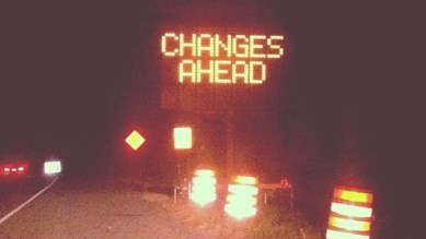 Sign - Changes Ahead