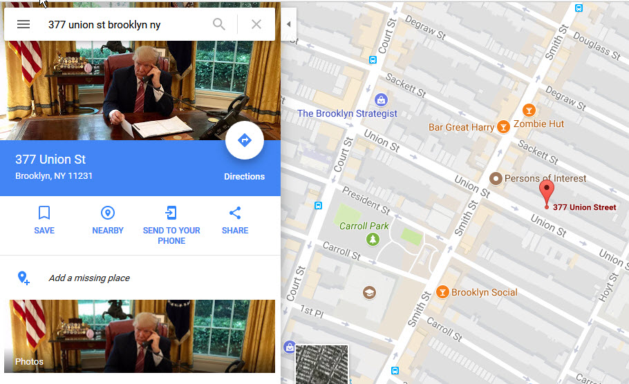 Far from Las Vegas, an amusing Trump hack of Google Maps   New To ...