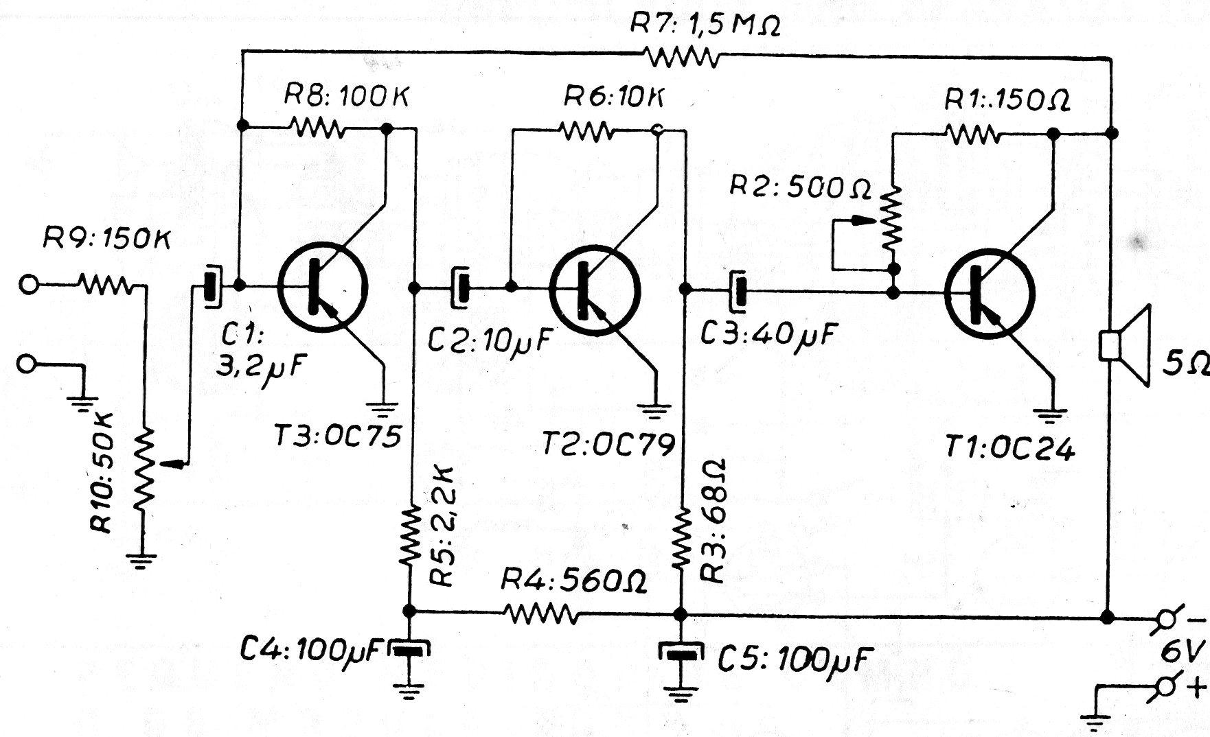 Amplificador De Baja Potencia Cir E