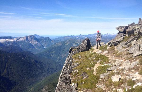 Calvin Heslop descending Sloan Peak