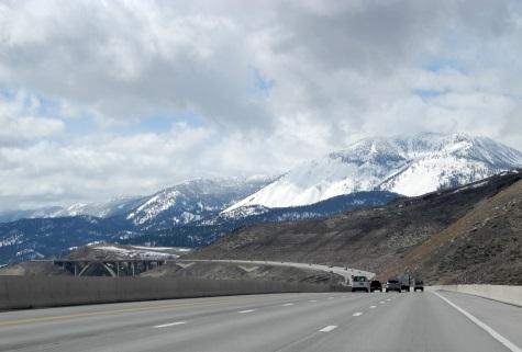 I580, Slide Mountain, Galena Creek Bridge, Nevada, NV
