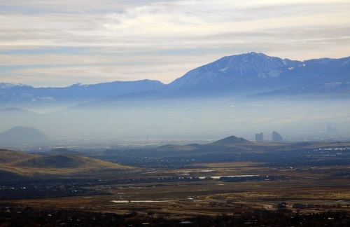 Winter inversion, smoke, smog, Reno, Truckee Meadows, Nevada, NV