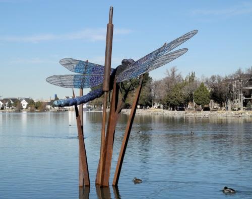 Dragonfly sculpture, Virginia Lake Park, Reno, Nevada, NV