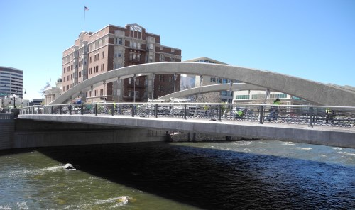 New Virginia Street Bridge in downtown Reno, Nevada, NV