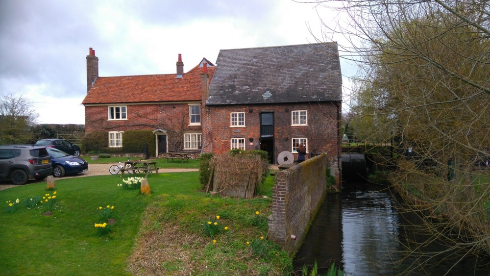 The mill race beside Redbournbury Watermill and Bakery