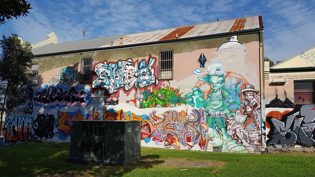 Camperdown Park Mural (2nd angle) - Various Artists