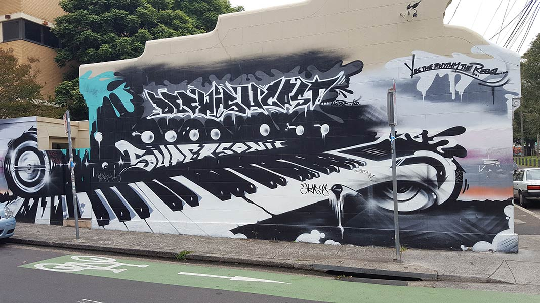 Hip Hop Piano Mary Street Art Newtown
