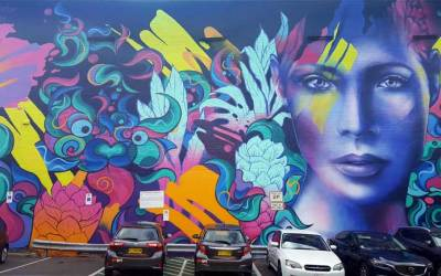 Wilson Street Car Park Mural