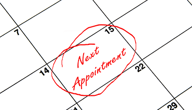 next appointment - small calendar