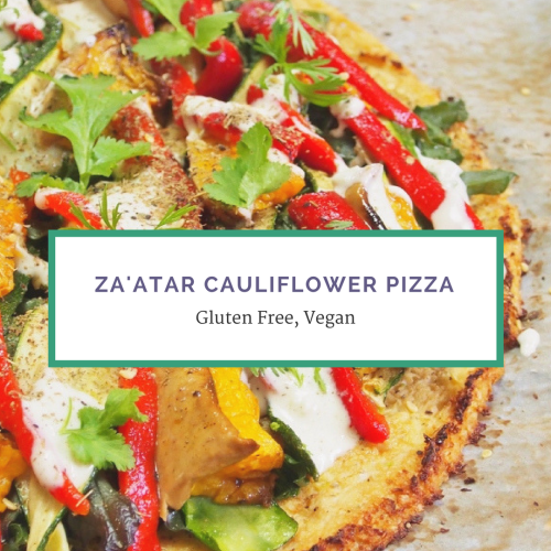 Cauliflower Pizza with Za'atar and Tahini: Plant Based Recipe