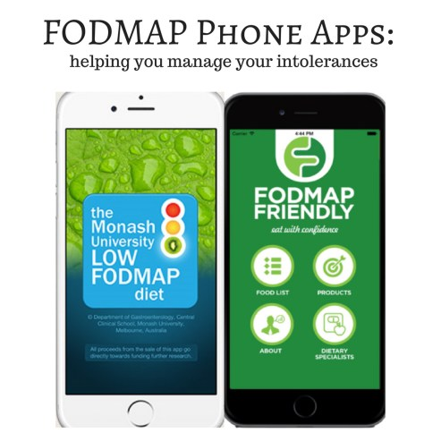 FODMAP phone apps review - low FODMAP diet iPhone Android
