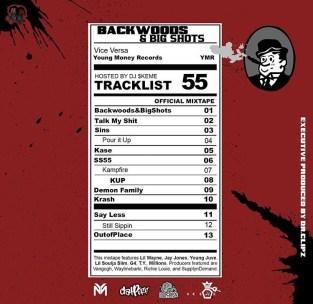 Backwoods & Big Shots Track List