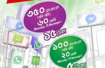 Robi 100 SMS 5 TK! 350 SMS 15 TK! Robi SMS Bundle packs