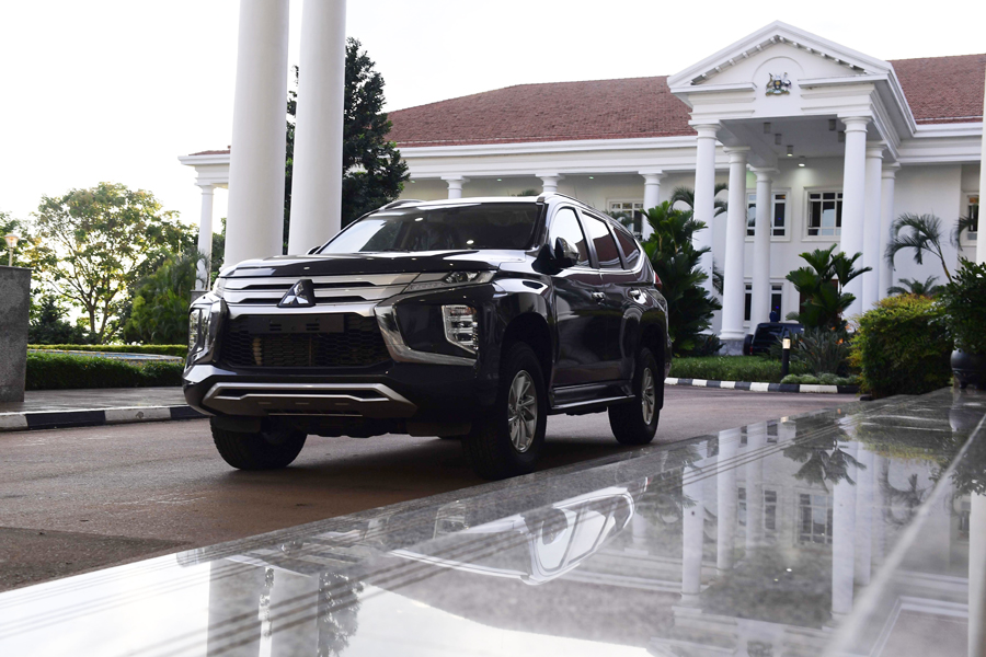 The former Cranes captain was presented with the hybrid car as a thank-you by President Yoweri Museveni and First Lady Janet Museveni