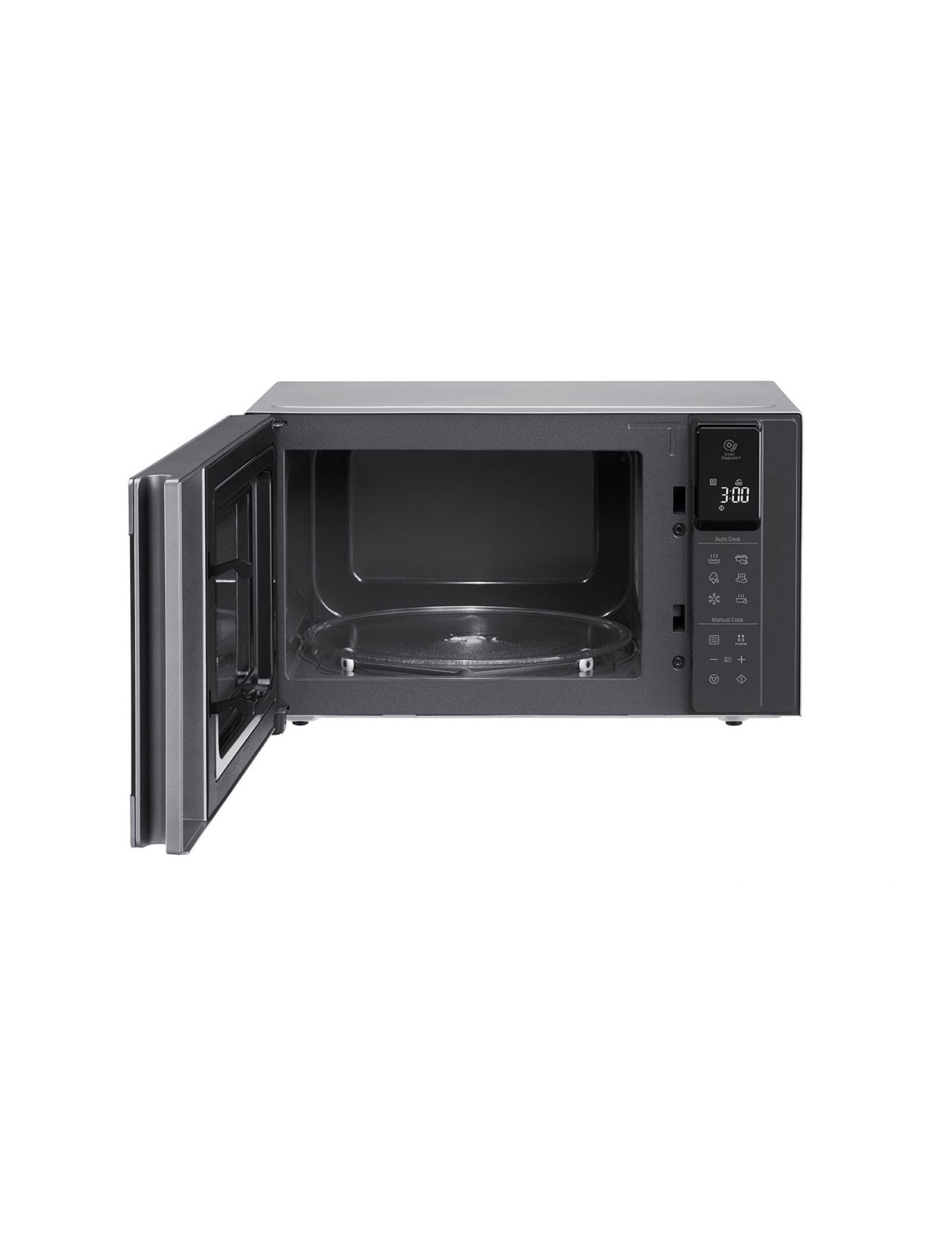 microwave oven 25l smart inverter even heating and easy clean stainless color