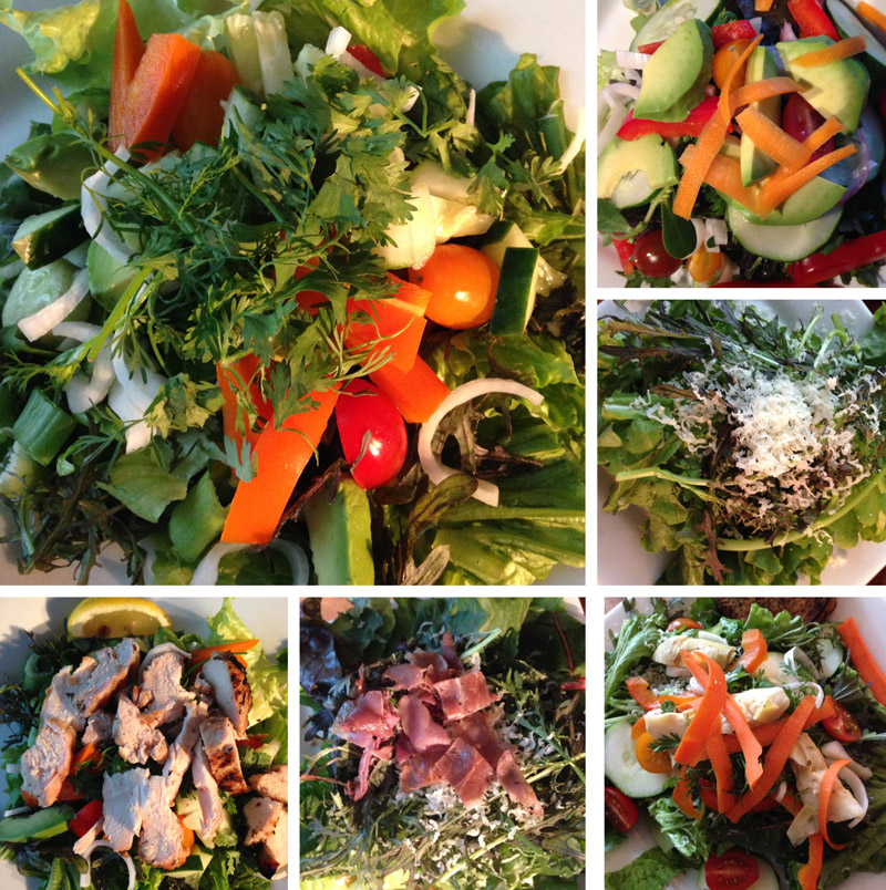 Market salads: so rich in flavour, they don't need dressing!