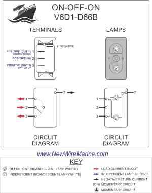Bilge AutoMan Rocker Switch | Carling Contura II | Illuminated | Accessory