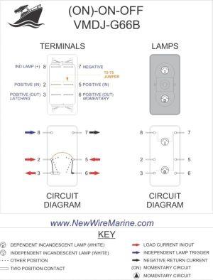 (ON)ONOFF Rocker Switch | Engine Switch | Wiper Switch