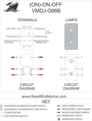 Rocker Switch Wiring Diagrams | New Wire Marine